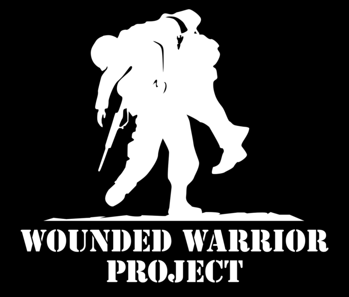 Wounded Warrior Project logo, black-white