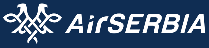 Air Serbia logo, white-blue
