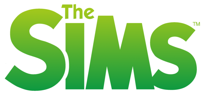 Sims logo, logotipo, green