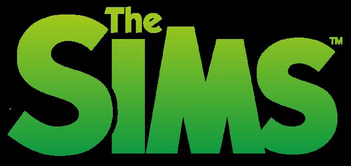Sims logo, logotipo, green