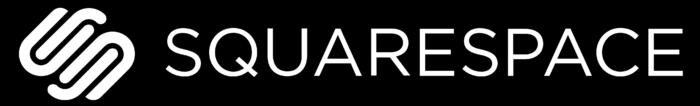 Squarespace logo, white-black