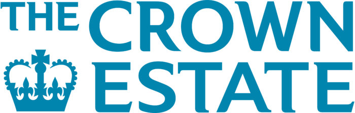 The Crown Estate logo, blue