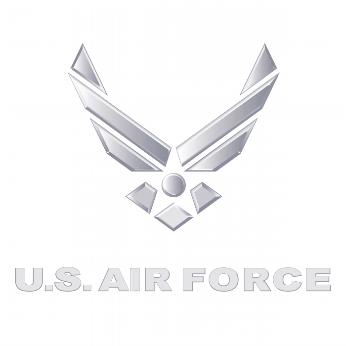 US Air Force logo silver