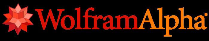 WolframAlpha logo, symbol, wordmark (Wolfram Alpha)