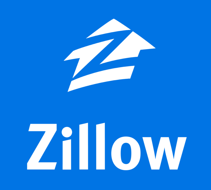 Zillow logo, blue (zillow.com)