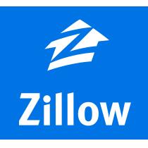 Zillow logo, blue (zillow.com)
