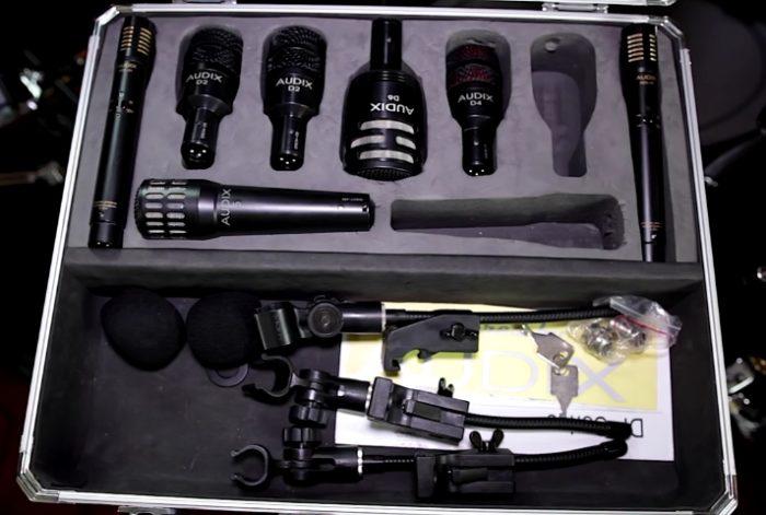 Audix Microphones kit photo