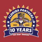 Florida Panthers 10 years logo