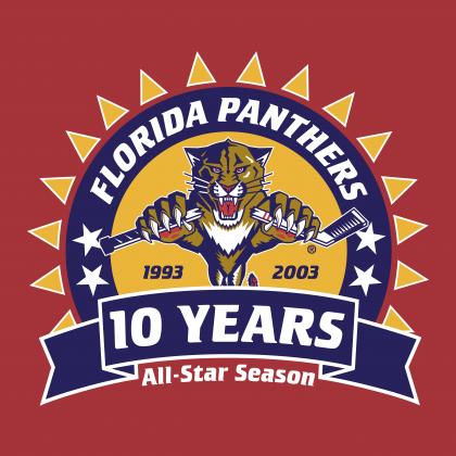 Florida Panthers 10 years logo