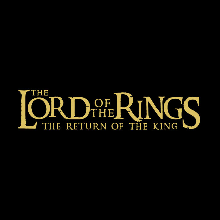 The Lord of the Rings logo black