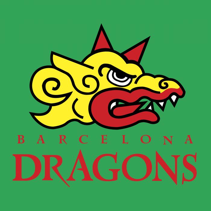 Barcelona Dragons logo green