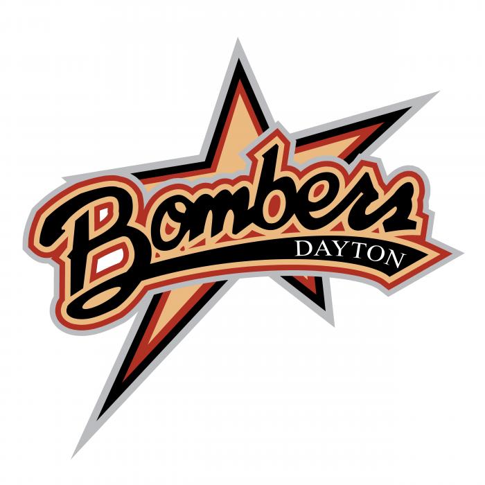 Dayton Bombers logo black