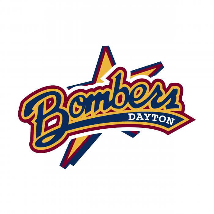 Dayton Bombers logo blue