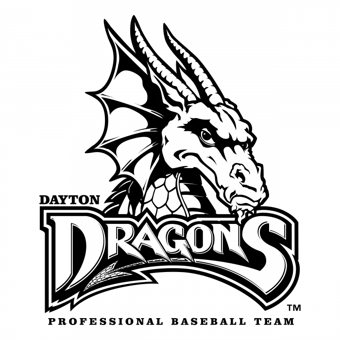 Dayton Dragons logo black