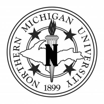 Northern Michigan University logo black