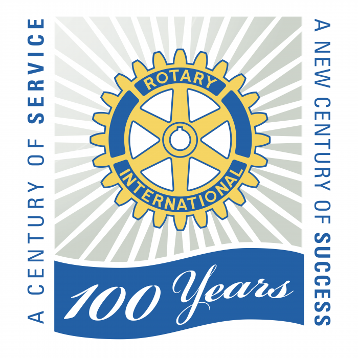 Rotary International 100 years logo
