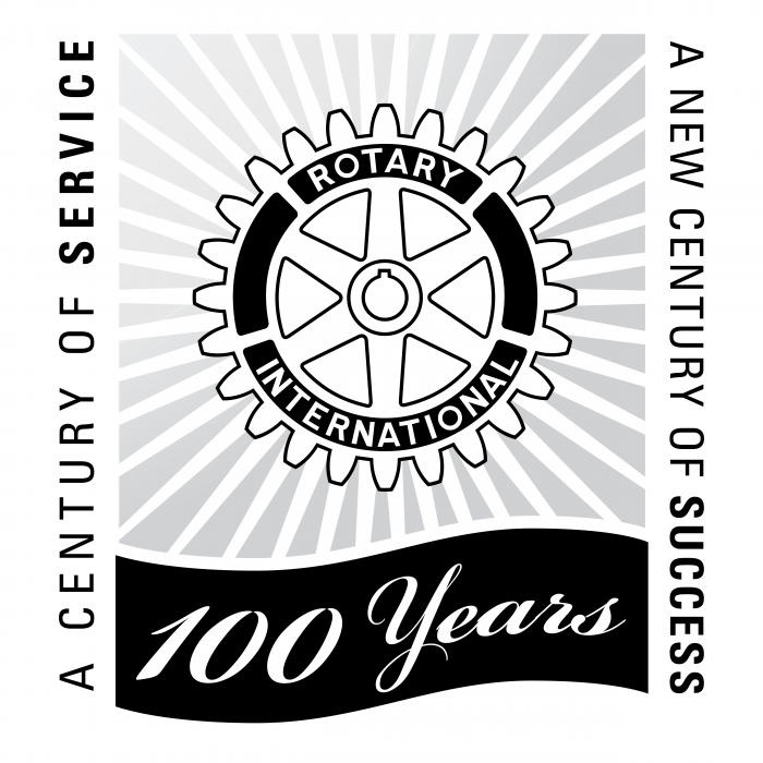 Rotary International 100 years logo black
