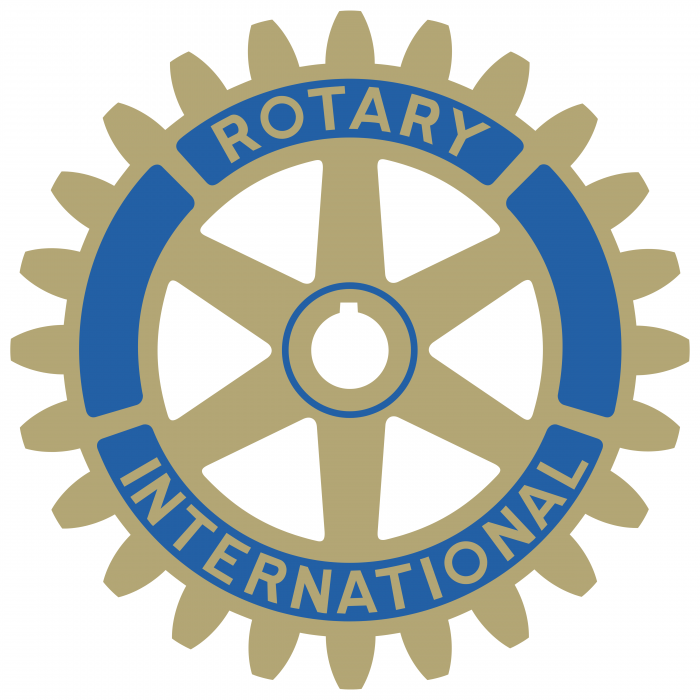 Rotary International logo gold