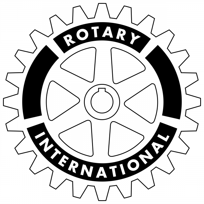 Rotary International logo white