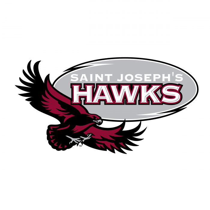 Saint Joseph's Hawks logo grey