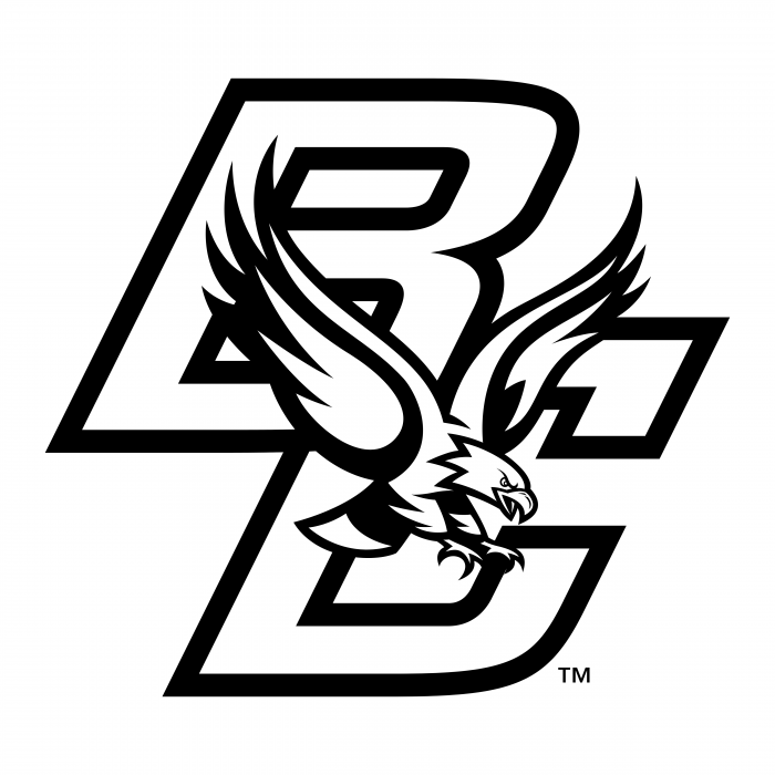 BC Eagles logo black