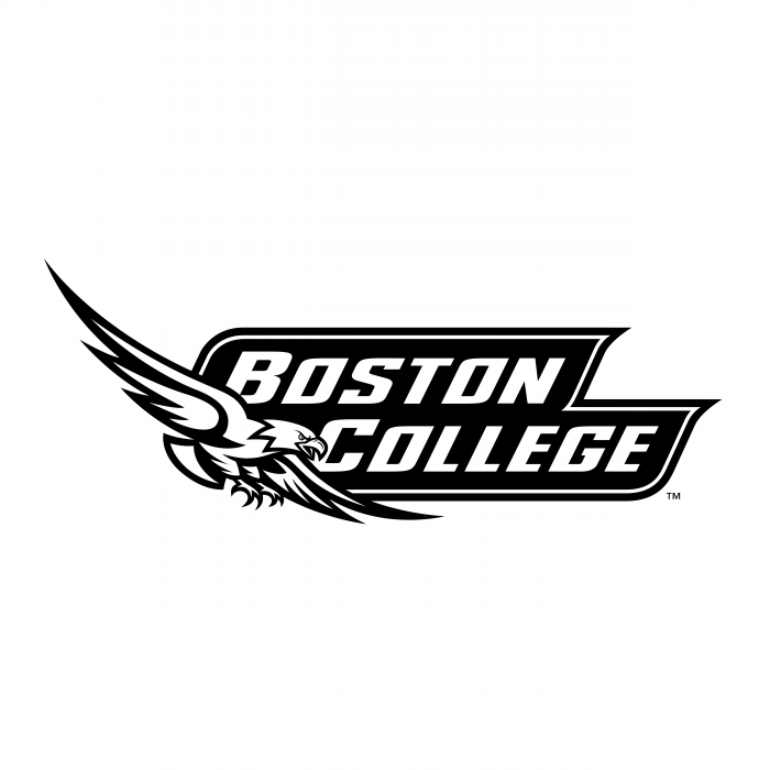 Boston College Eagles logo black
