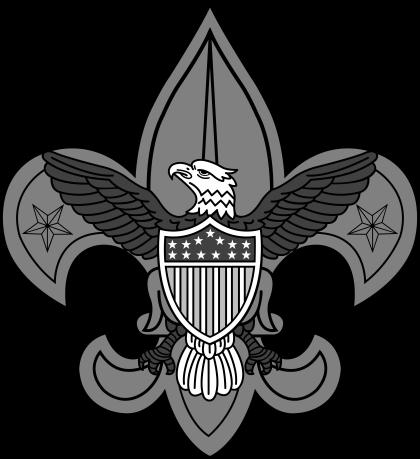 Boy Scouts logo grey