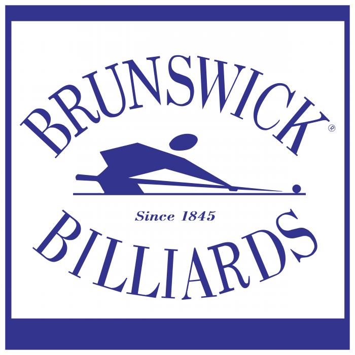 Brunswick Billiards logo violet