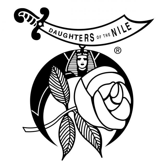 Daughters of the Nile logo black