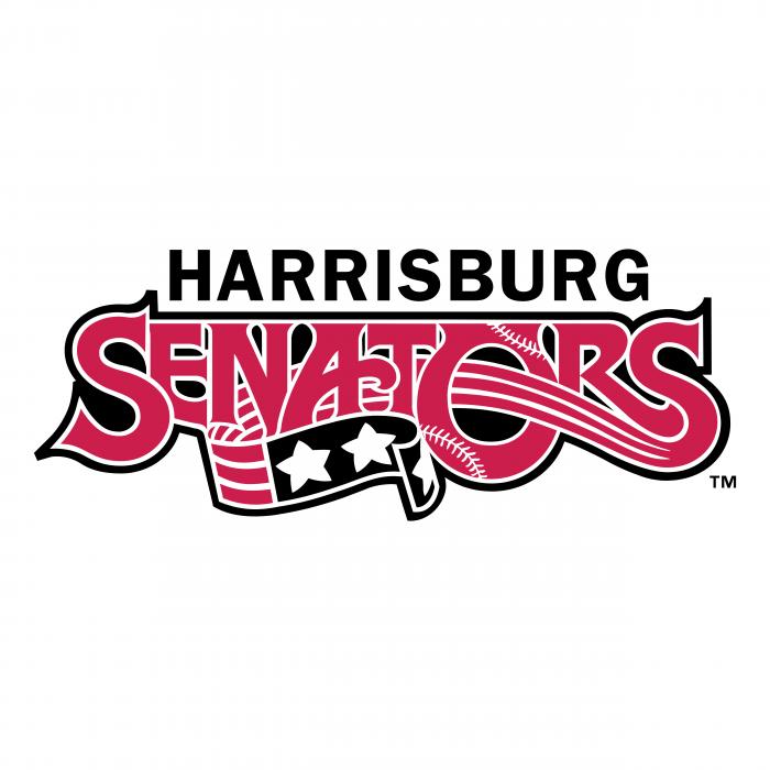 Harrisburg Senators logo pink