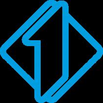 Italia 1 logo blue