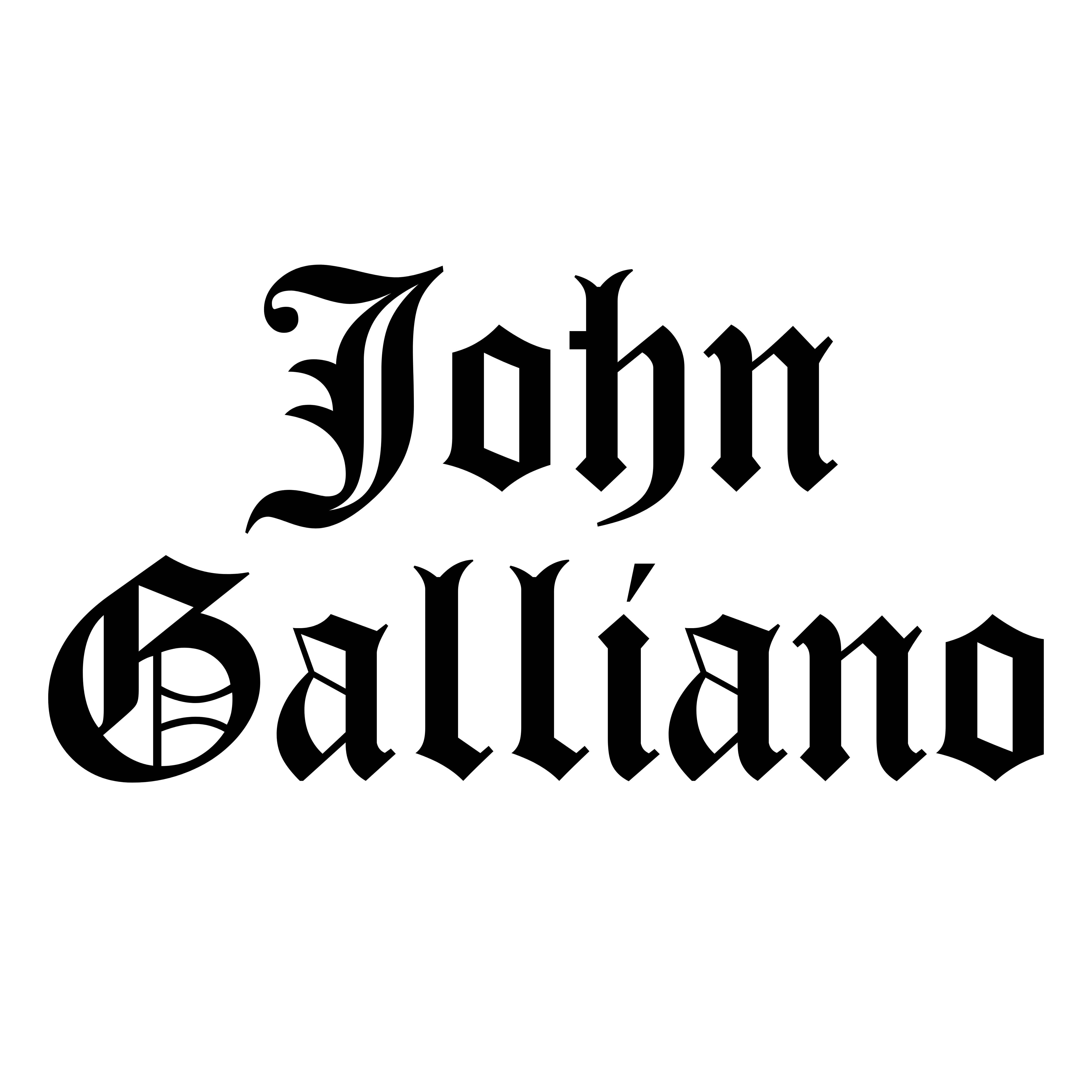 size 40 d8e25 40e60 John Galliano – Logos Download