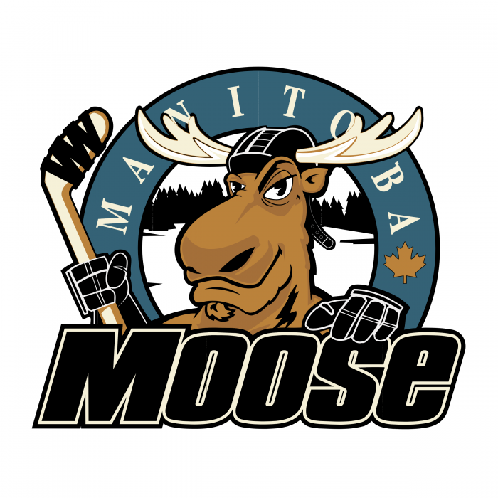 Manitoba Moose logo black