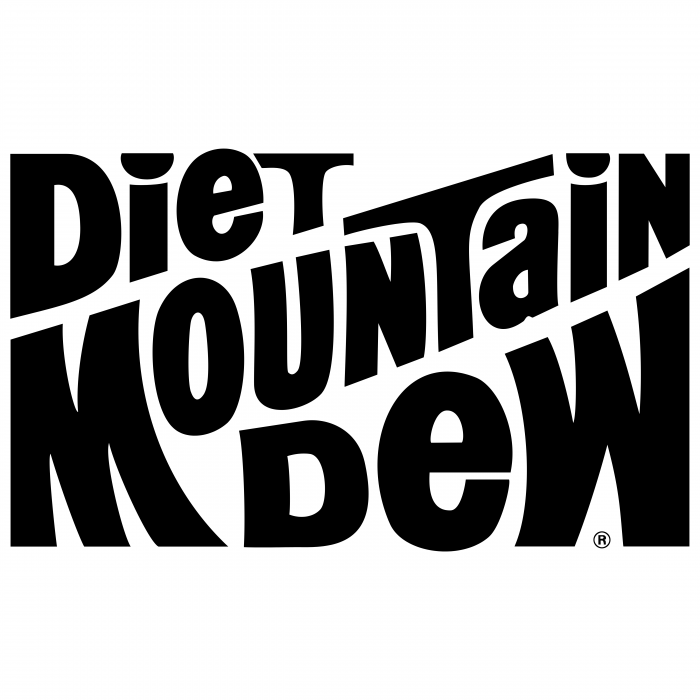 Mountain Dew Diet logo black