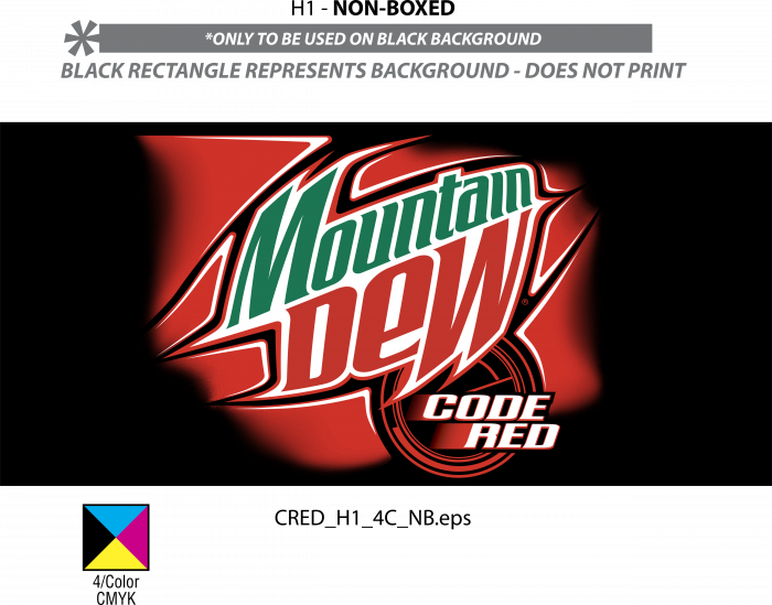 Mountain Dew logo code red