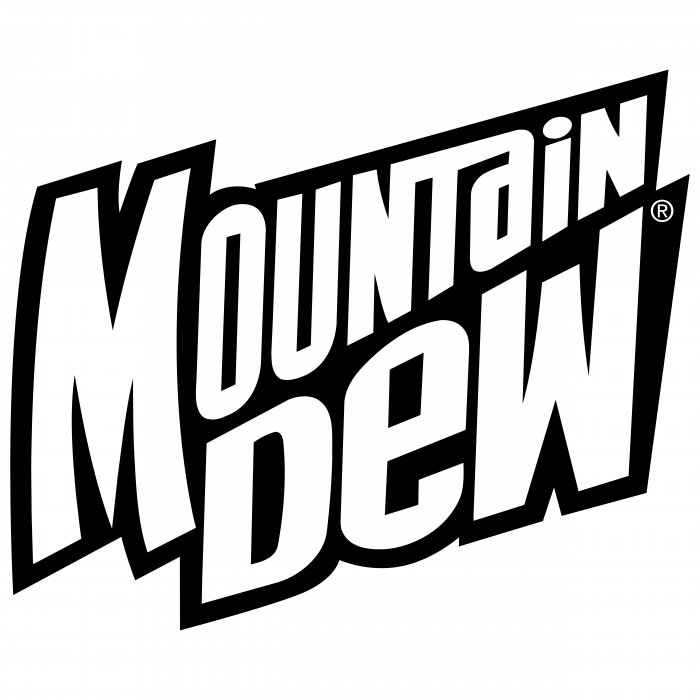 Mountain Dew logo white