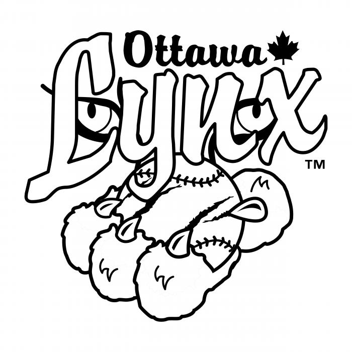 Ottawa Lynx logo black