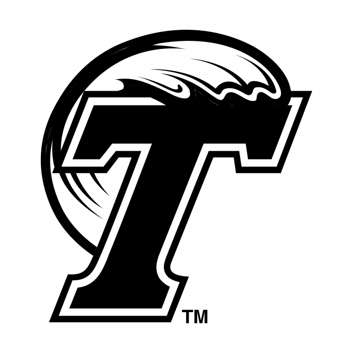 Tulane Green Wave logo black