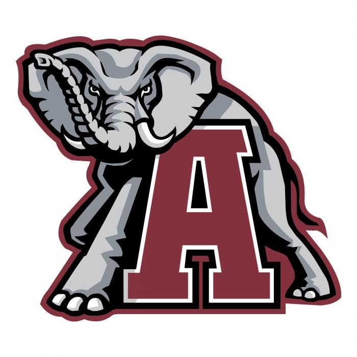 A Crimson Tide logo elephant