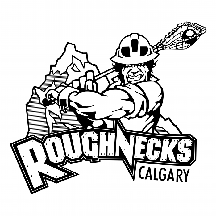 Calgary Roughnecks logo white