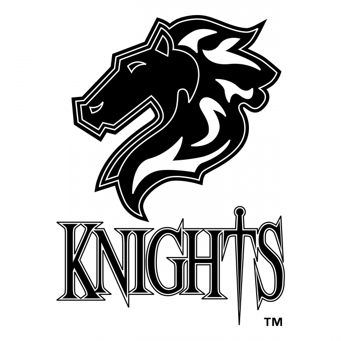 Charlotte Knights logo black
