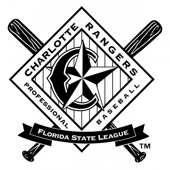 Charlotte Rangers logo black