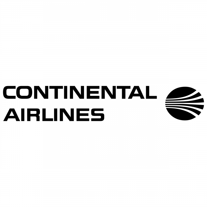 Continental Airlines logo black