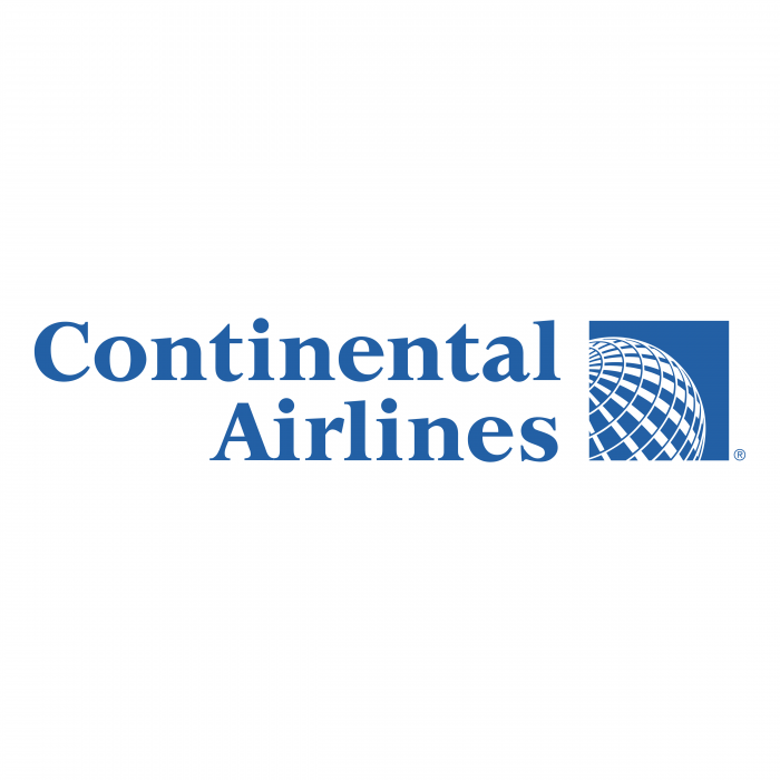 Continental Airlines logo blue