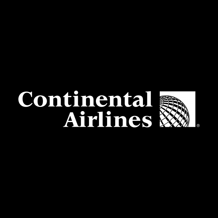 Continental Airlines logo white