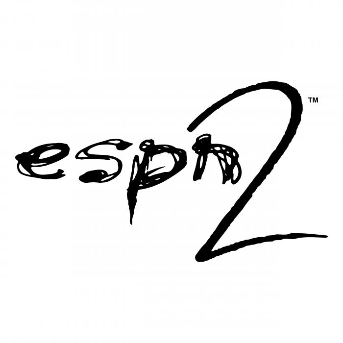 ESPN2 logo black
