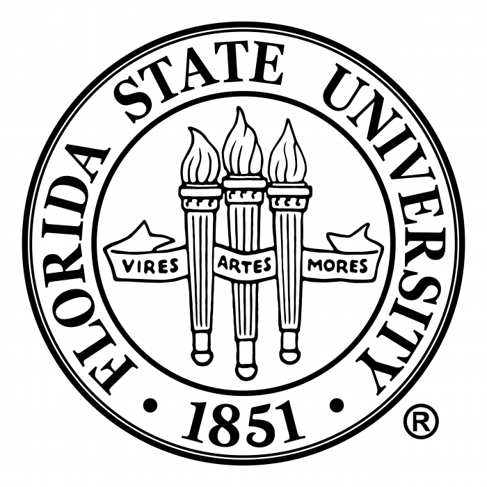 Florida State University logo white