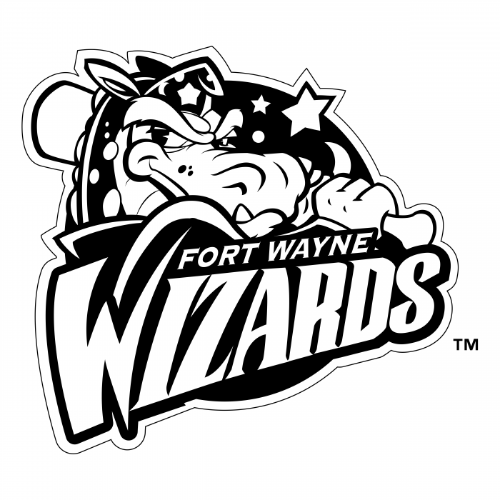 Fort Wayne Wizards logo black