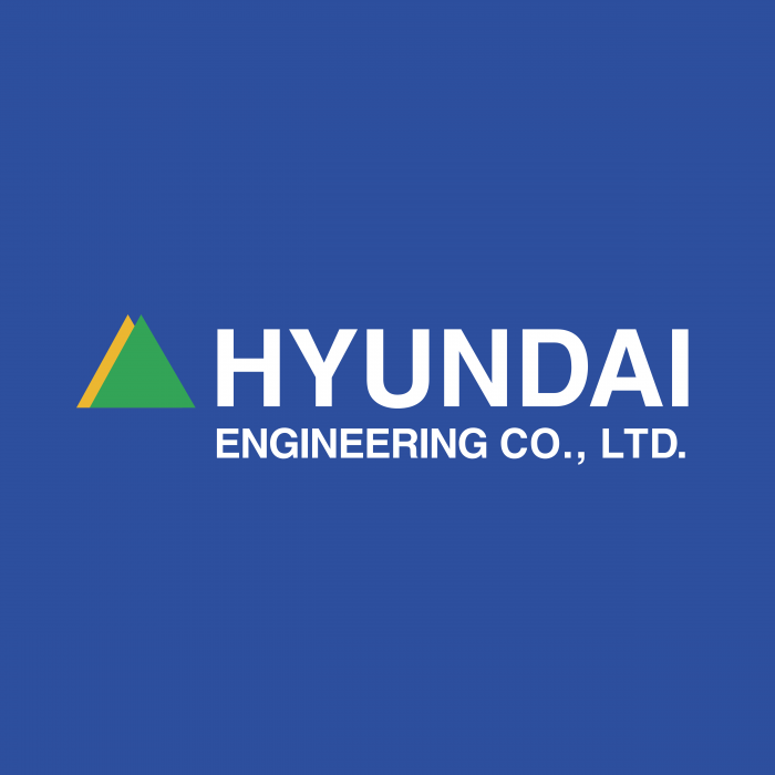 Hyundai Engineering logo blue