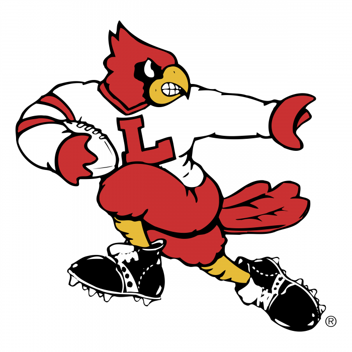Louisville Cardinals logo white